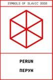 Simbolo del dio antico dello slavo di PERUN Fotografia Stock