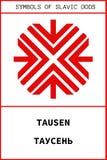 Simbolo del dio antico dello slavo di TAUSEN Fotografia Stock