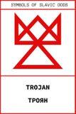 Simbolo del dio antico TROJAN dello slavo Fotografie Stock Libere da Diritti