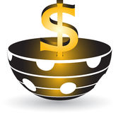 Simbolo del dollaro Fotografie Stock