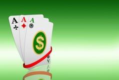 Simbolo del dollaro alle schede dell'asso royalty illustrazione gratis