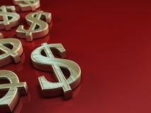 Simbolo del dollaro americano Fotografia Stock