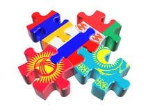 Simbolo del EACU nella prospettiva Fotografia Stock