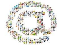 Simbolo del email Fotografia Stock Libera da Diritti