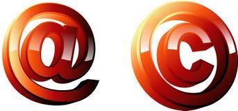 Simbolo del email illustrazione di stock