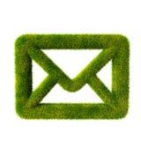 Simbolo del email dell'erba Fotografia Stock