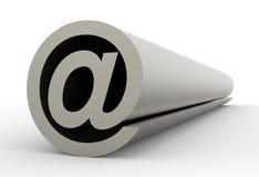 Simbolo del email, simbolo astratto del email Immagini Stock Libere da Diritti