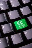 Simbolo del email su una tastiera Fotografia Stock Libera da Diritti