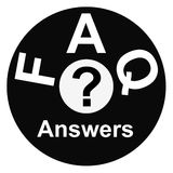 Simbolo del FAQ Immagini Stock