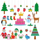 Simbolo del festival colourful di Natale Fotografia Stock Libera da Diritti