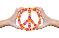 Simbolo del fiore di pace Immagini Stock Libere da Diritti