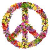 Simbolo del fiore di pace Fotografia Stock Libera da Diritti