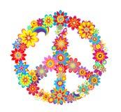 Simbolo del fiore di pace Fotografie Stock