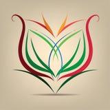 Simbolo del fiore nell'estratto Immagine Stock