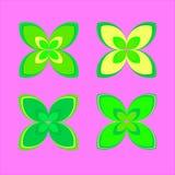 Simbolo del fiore verde Elemento di disegno di vettore EPS10 Immagini Stock Libere da Diritti