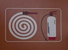 Simbolo del gabinetto della manichetta antincendio Fotografia Stock