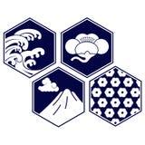 Simbolo del giapponese dell'illustrazione di vettore Fotografia Stock Libera da Diritti