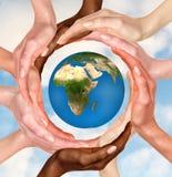 Simbolo del globo della terra Fotografia Stock