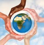 Simbolo del globo della terra Fotografia Stock Libera da Diritti