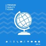 Simbolo del globo - icona della terra Immagini Stock