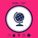 Simbolo del globo - icona della terra Fotografie Stock Libere da Diritti