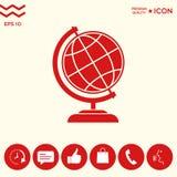 Simbolo del globo - icona della terra Immagini Stock Libere da Diritti