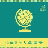Simbolo del globo - icona della terra Fotografia Stock Libera da Diritti