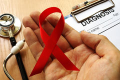 Simbolo del HIV/AIDS Immagini Stock