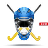 Simbolo del hockey su ghiaccio Elementi di disegno Fotografia Stock