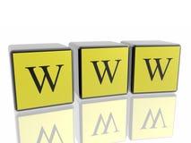 Simbolo del Internet di World Wide Web Fotografie Stock Libere da Diritti