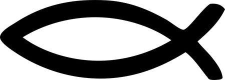 Simbolo del Jesus - pesce del Christ Immagini Stock Libere da Diritti