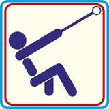 Simbolo del martello di lancio per il download Progetti della stampa delle icone di vettore Fotografia Stock