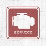 Simbolo del motore dell'allarme Fotografia Stock