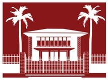 Simbolo del museo della palma Fotografie Stock Libere da Diritti