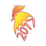 Simbolo del nuovo anno 2017 sul calendario orientale Immagine Stock