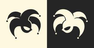 Simbolo del pagliaccio o del giullare Icona del segno del burlone illustrazione vettoriale