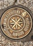 Simbolo del pavimento di Bologna, Italia Immagine Stock Libera da Diritti