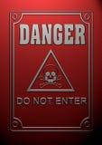 Simbolo del pericolo Fotografia Stock Libera da Diritti