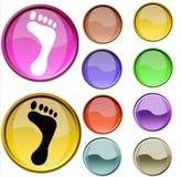 Simbolo del piede Immagine Stock