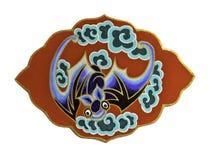 Simbolo del pipistrello cinese su fondo bianco Fotografie Stock Libere da Diritti