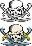 Simbolo del pirata Fotografia Stock Libera da Diritti