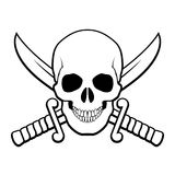 Simbolo del pirata Fotografie Stock Libere da Diritti