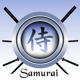 Simbolo del samurai Fotografia Stock