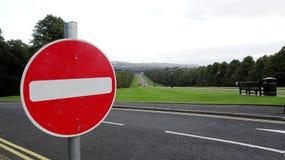 Simbolo del segnale stradale di traffico immagini stock
