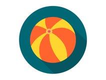 Simbolo del segno dell'icona di vettore del beach ball Royalty Illustrazione gratis