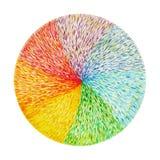 Simbolo del segno di chakra di colore di potere 7, simbolo variopinto del fiore di loto Immagini Stock