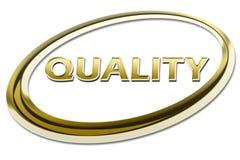 Simbolo del segno di qualità Immagine Stock Libera da Diritti