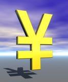 Simbolo del segno di Yen Fotografia Stock