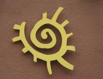 Simbolo del sole dell'nativo americano Fotografie Stock