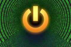 Simbolo del tasto di potenza Fotografia Stock